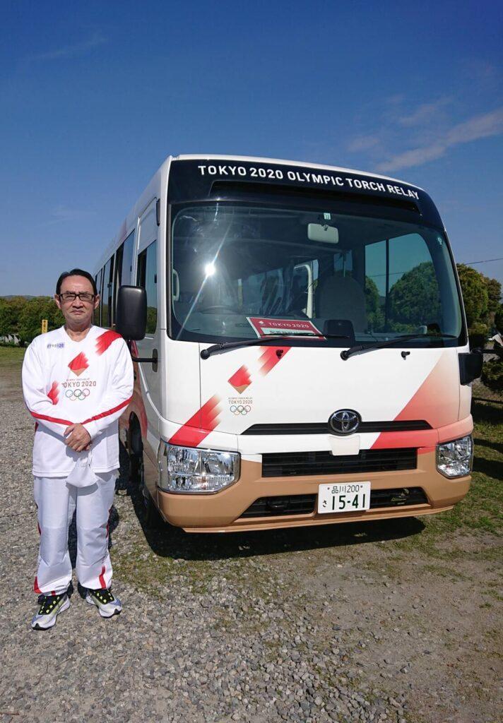 聖火ランナー送迎バス